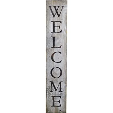 Welcome Rustic BARN Wood Pallet Sign - Welcome. 40 x 7.5 Handcrafted Antique White Wall Decor with Black Quote That Will Look Beautiful in Your Family Home Walls, entryway or as a Housewarming Gift