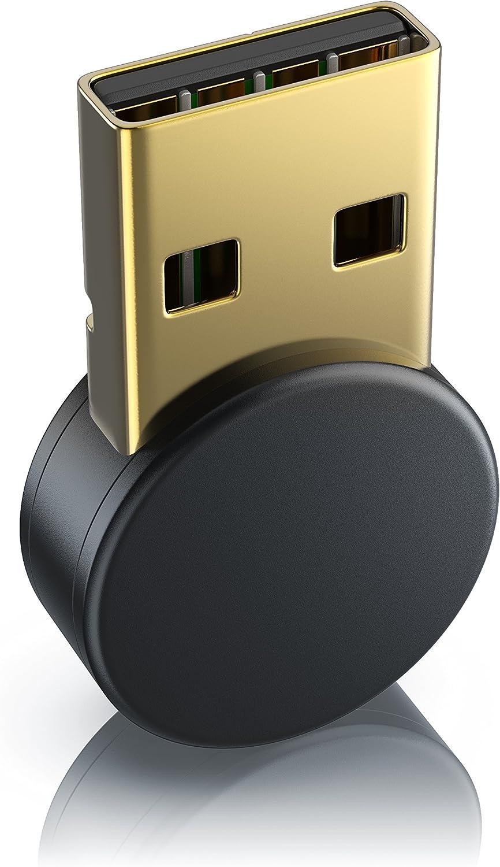 CSL - Nano Adaptador Bluetooth USB V4.0 Redondo - USB 2.0 High Speed - hasta 3 MBit s - Eficiencia energética Mejorada - Tecnología Bluetooth de Clase 4.0-2,4 GHz - Plug y Play