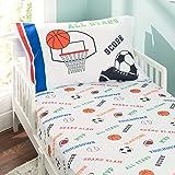Everyday Kids 幼儿床笠枕套套装 - 柔软超细纤维,透气低*性幼儿床上用品 运动 幼儿