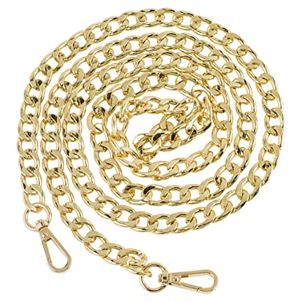 6429dd69e365e Myathle 12MM Width Purse Chain Strap Replacement Length 39 quot  Gold  Plated Metal Chain Handbags Strap
