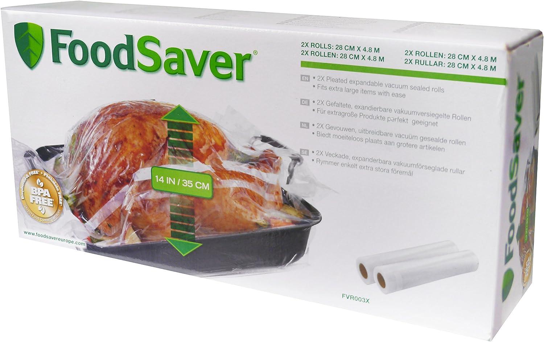 Los mejores rollos para envasar al vacío - FoodSaver FVR003X