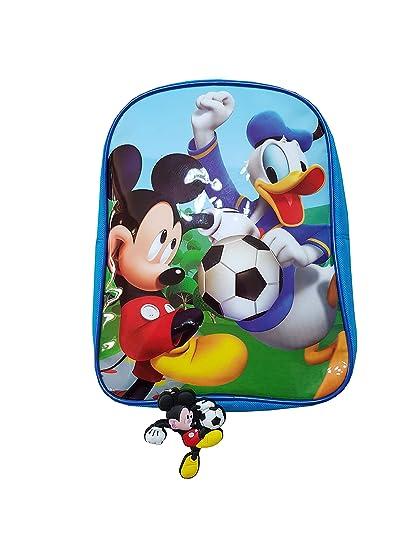 Mochila con Llavero Mickey Mouse y paperino para guardería o ...