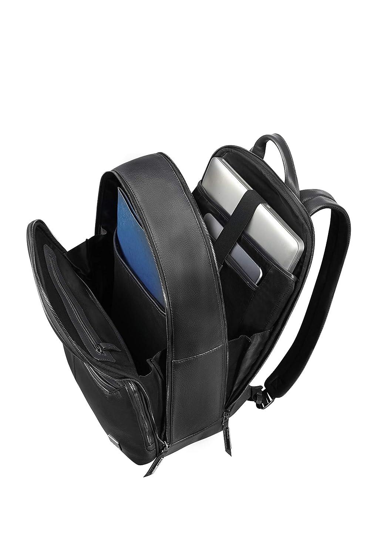 Lederrucksack-Herren-schwarz-Vollnarben-Leder-Business-Samsonite-Laptopfach