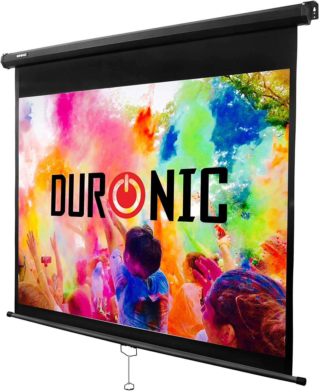 """Duronic MPS70 /43 Pantalla de Proyección Enrollable Manual, Pantalla para Proyector 70"""" 4:3 (142,5 x 107,5 cm) / Full HD y 3D, Fijación de Pared y Techo: Amazon.es: Electrónica"""