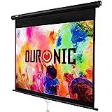 Duronic MPS100 /169 Ecran de projection à déroulement manuel 100 pouces 16:9 / 221 x 125 cm - Fixation mur ou plafond - 4K Full HD 3D
