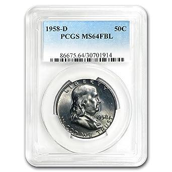 White 1953-D Franklin Half Dollar PCGS MS64 FBL
