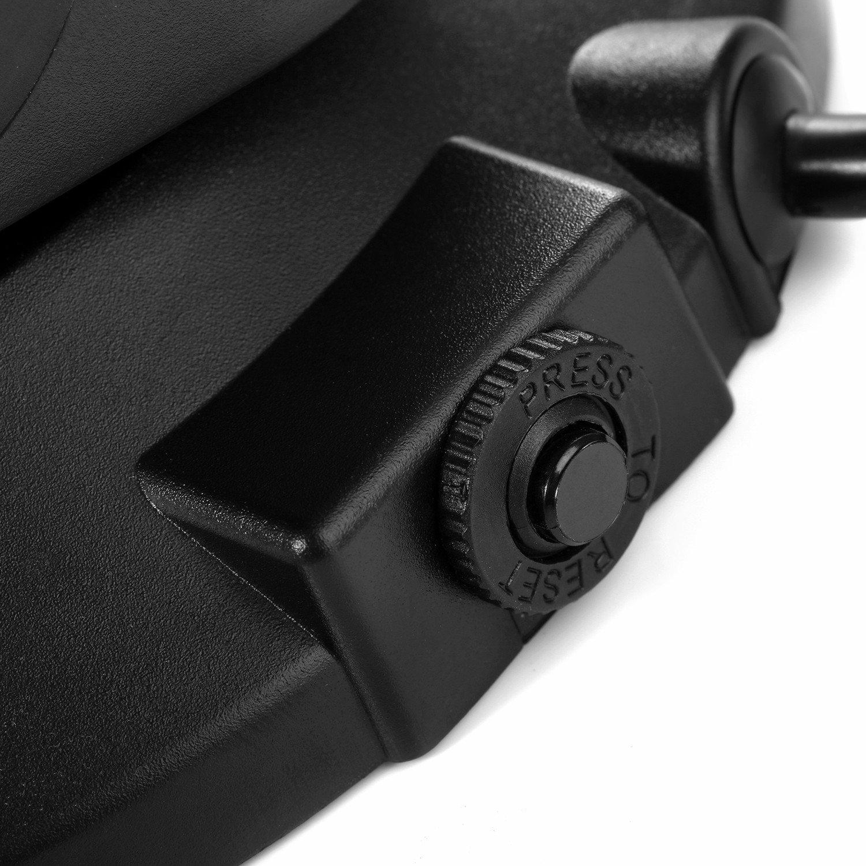SAFEMORE Schaltbare 15 Fach Steckdosenleiste mit 2 USB Mehrfachsteckdosen Verteilersteckdosen Steckdosenturm 2500W//10A Schwarz