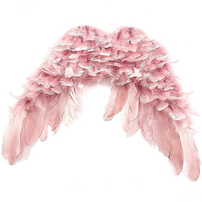 Feste & besondere Anlässe Engel Dekoration Engelsflügel Flügel 23 cm rosa Dekoration Weihnachten Verkleidung Engel Federn