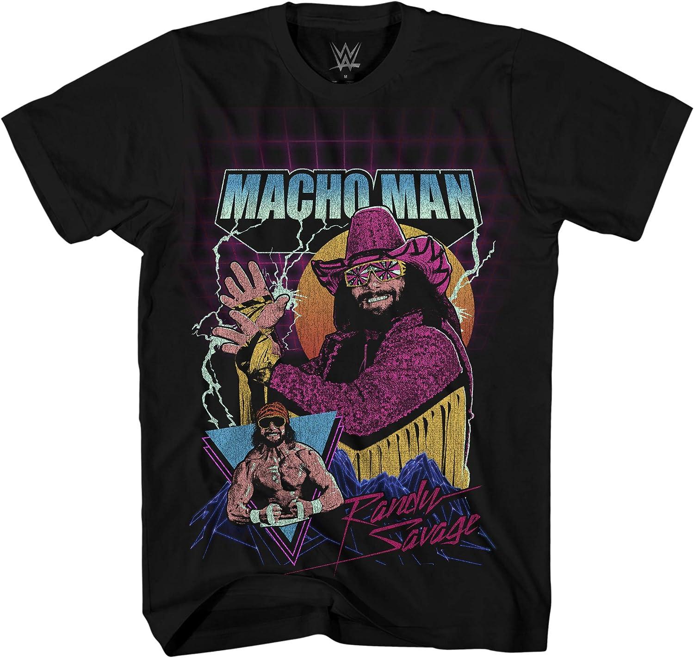 WWE Mens Macho Man Shirt - Macho Man Randy Savage Superstar Tee - World Champion Wrestling T-Shirt