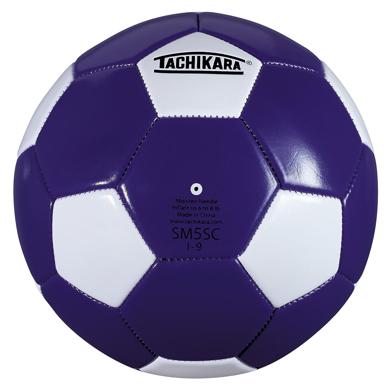 タチカラ SM5SC サッカーボール (サイズ5) B003UF2DAC パープル/ホワイト パープル/ホワイト