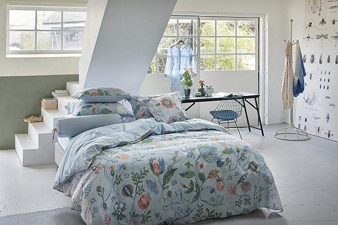 Pip - Ropa de cama reversible (percal), 100 % algodón, azul, 135 x 200 cm + 80 x 80 cm: Pip: Amazon.es: Hogar