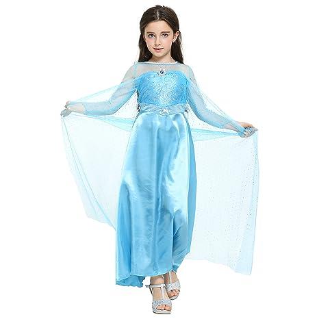 Di Vestito Da Per Principessa Elsa Katara FrozenCostume 9eYDEH2WIb