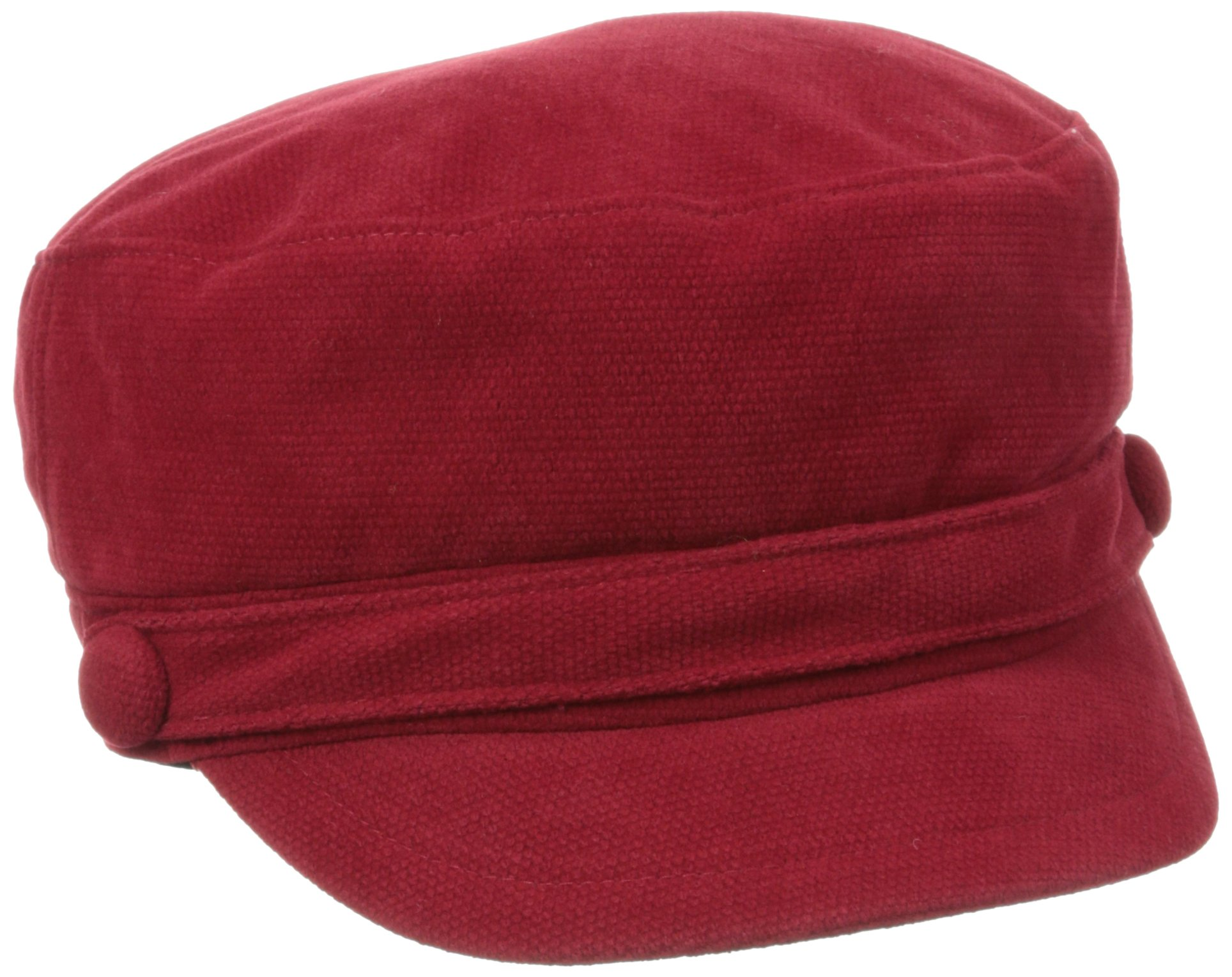 San Diego Hat Company Women's Sueded Corduroy Greek Fisherman Hat, Red, One Size