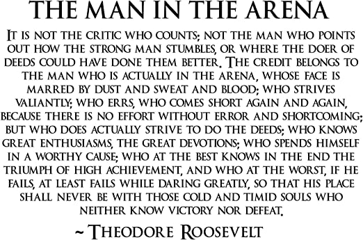 Amazon Com Theodore Roosevelt Man In The Arena Poster Teddy Roosevelt Poster 24x36 Teddy4 Posters Prints
