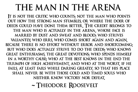 Theodore Roosevelt Man In The Arena Poster Teddy Roosevelt Poster 24×36 TEDDY4
