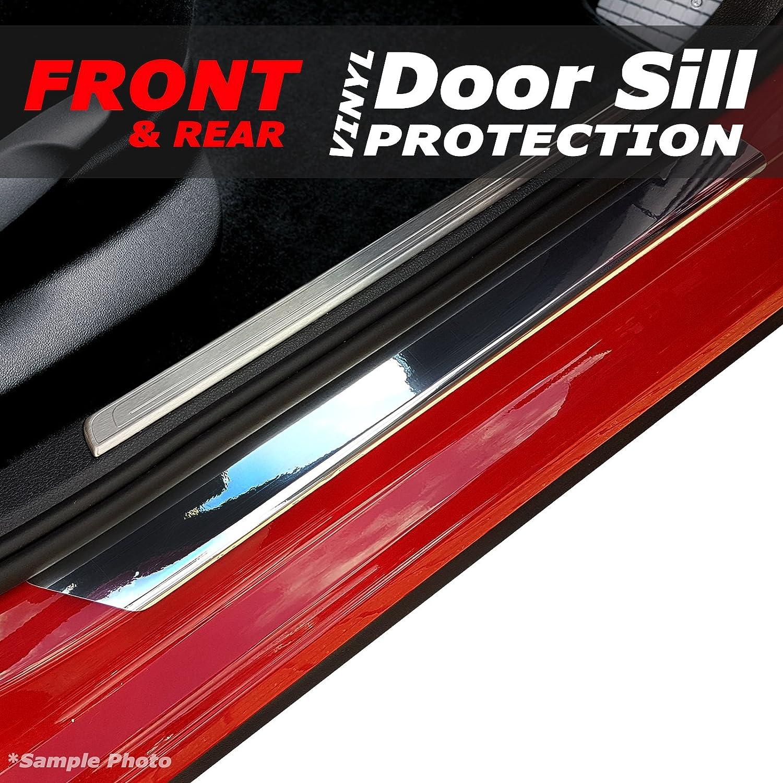 carmats4u Chrome Vinyl Door Sill Protectors 4 Piece Unique Car Mats
