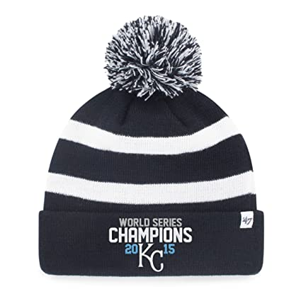 2999c2c9373 MLB Kansas City Royals 2015 World Series Champions  47 Breakaway Cuff Knit  Hat with Pom