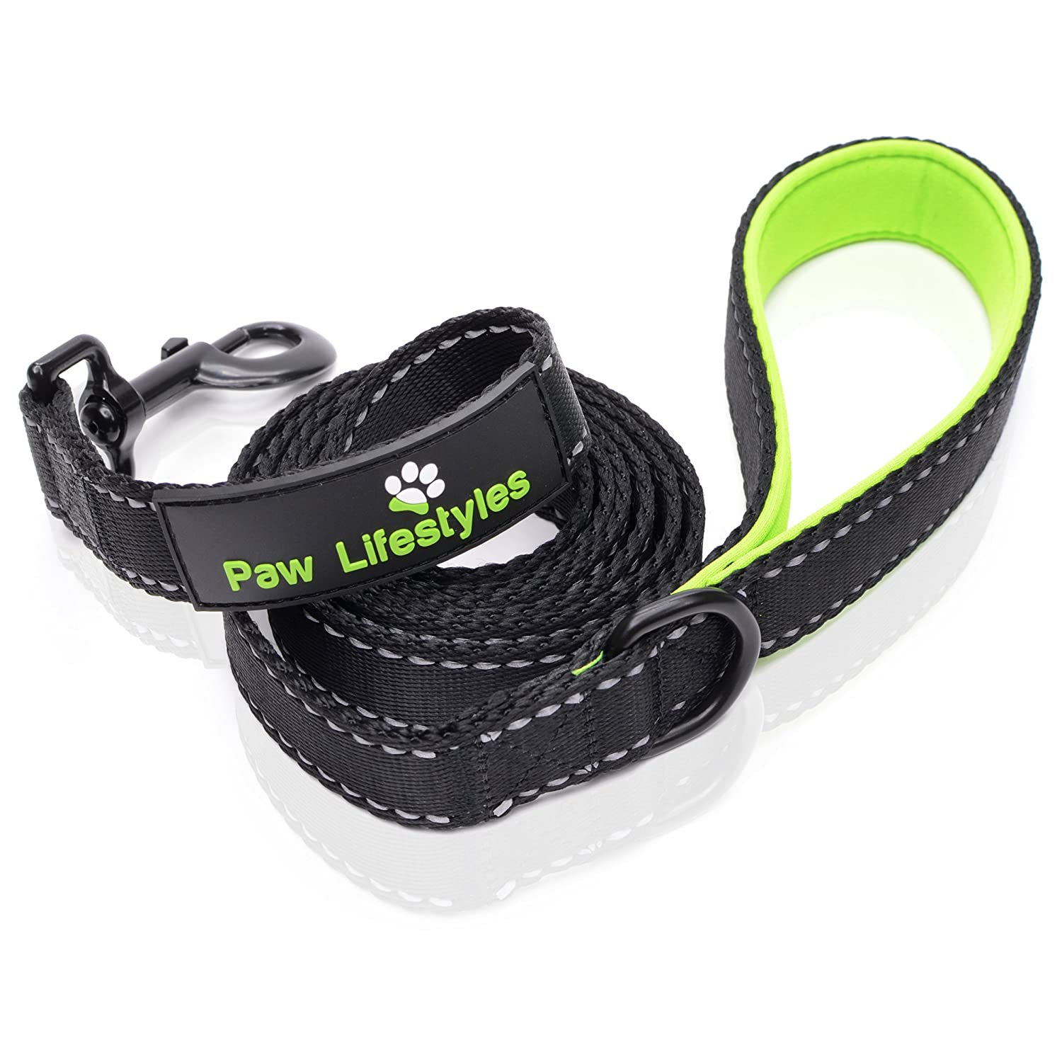 "Extra Heavy Duty Dog Leash by Paw Lifestyles – 3mm Thick, Soft Padded Handle For Comfort, 6ft long - 1"" Wide, Perfect Leash for Medium and Large Dogs, Dog Training"