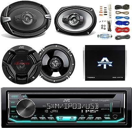 "Kenwood CD Car Stereo Receiver with USB//CD W// 2X JVC 6.5/"" 600W 2-WAY Speakers"