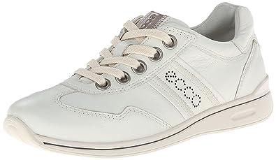 ECCO Women's Mobile II Premium Flat,Shadow White,40 EU/9-9.5