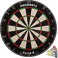 Diana de Dardos Dartboard Force 8 - Cerdas de Sisal de Clase A - Construcción de Alambre de Hoja Profesional - 451 x 38 mm – Juego Dardos + Libro de Reglas + Kit de ensamblaje