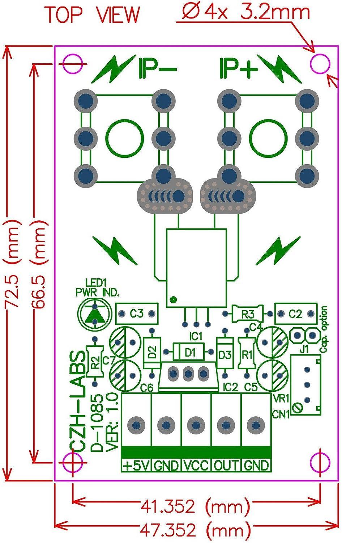 bas/é sur le acs758 //-50amp courant AC//DC Module de capteur Electronics-Salon Support rail DIN