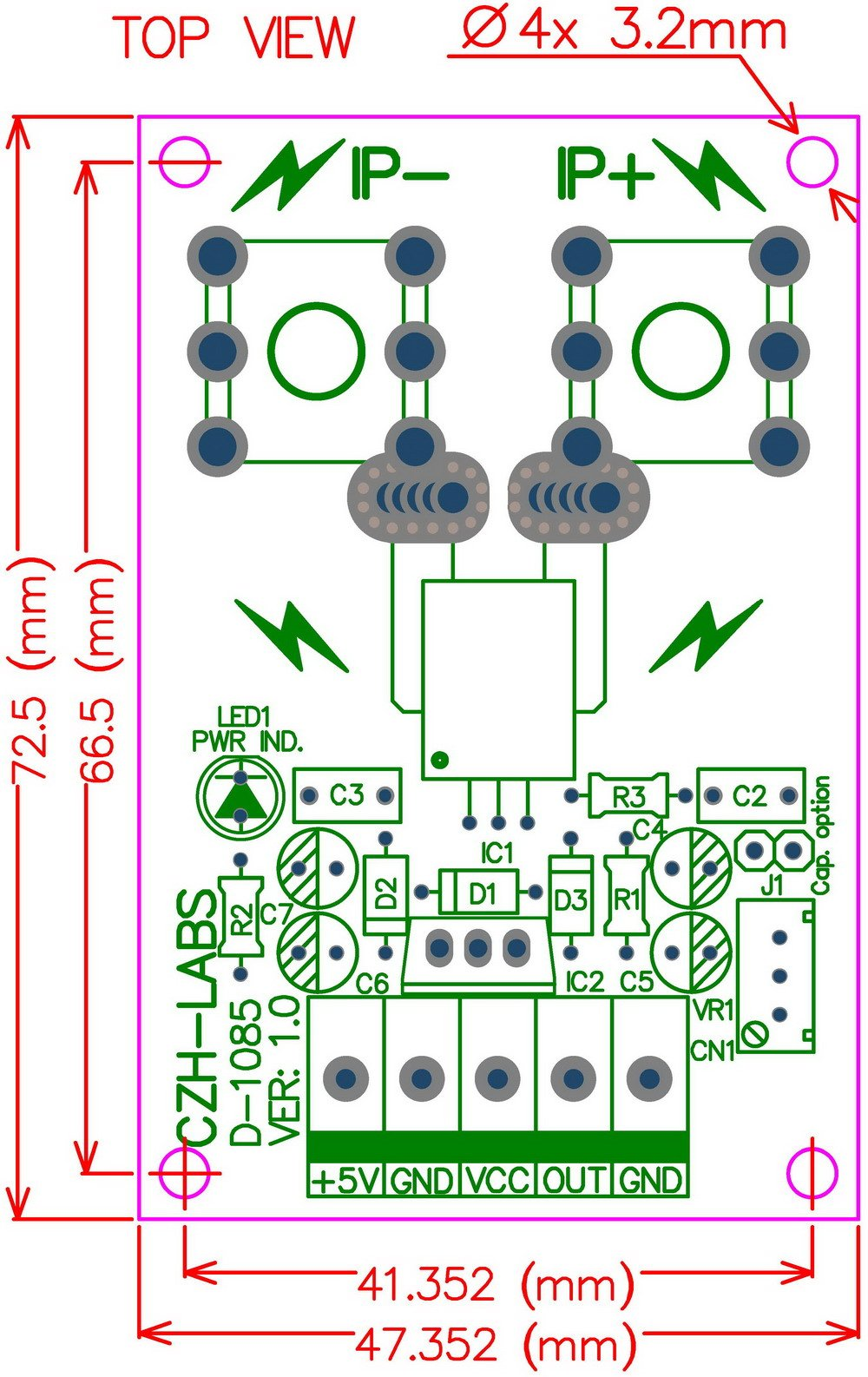 Electronics-Salon Panel Mount +/-150Amp AC/DC Current Sensor Module Board, based on ACS758