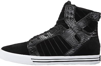 a8682080b3f Amazon.com | Supra Skytop Black Croc White Mens Suede Skate Trainers ...