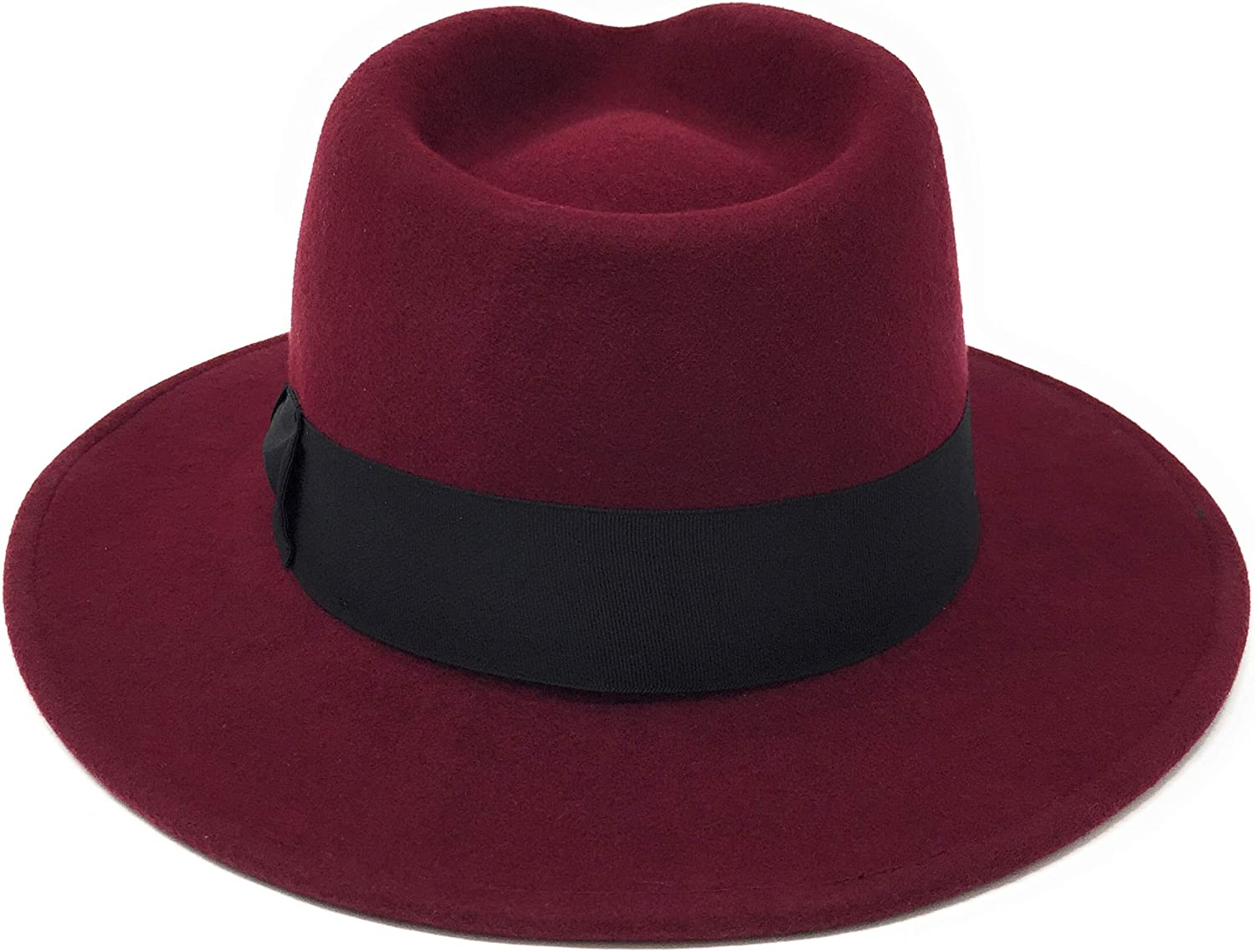 Medium 2XL Large Mens Handmade Wool Felt Indiana Style Crushable Fedora Hat Indy Fabric Protector Treated Small XL