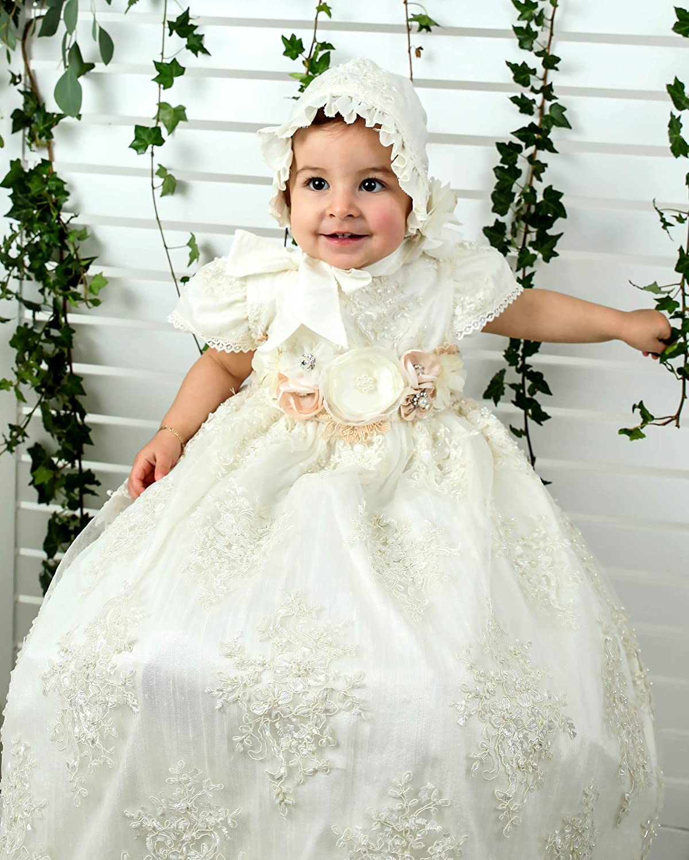 First Communion Dress White Lace Dress Christening Gown Girls Dresses Infant Baptism Dress White Christening Dress,Baptism Dress