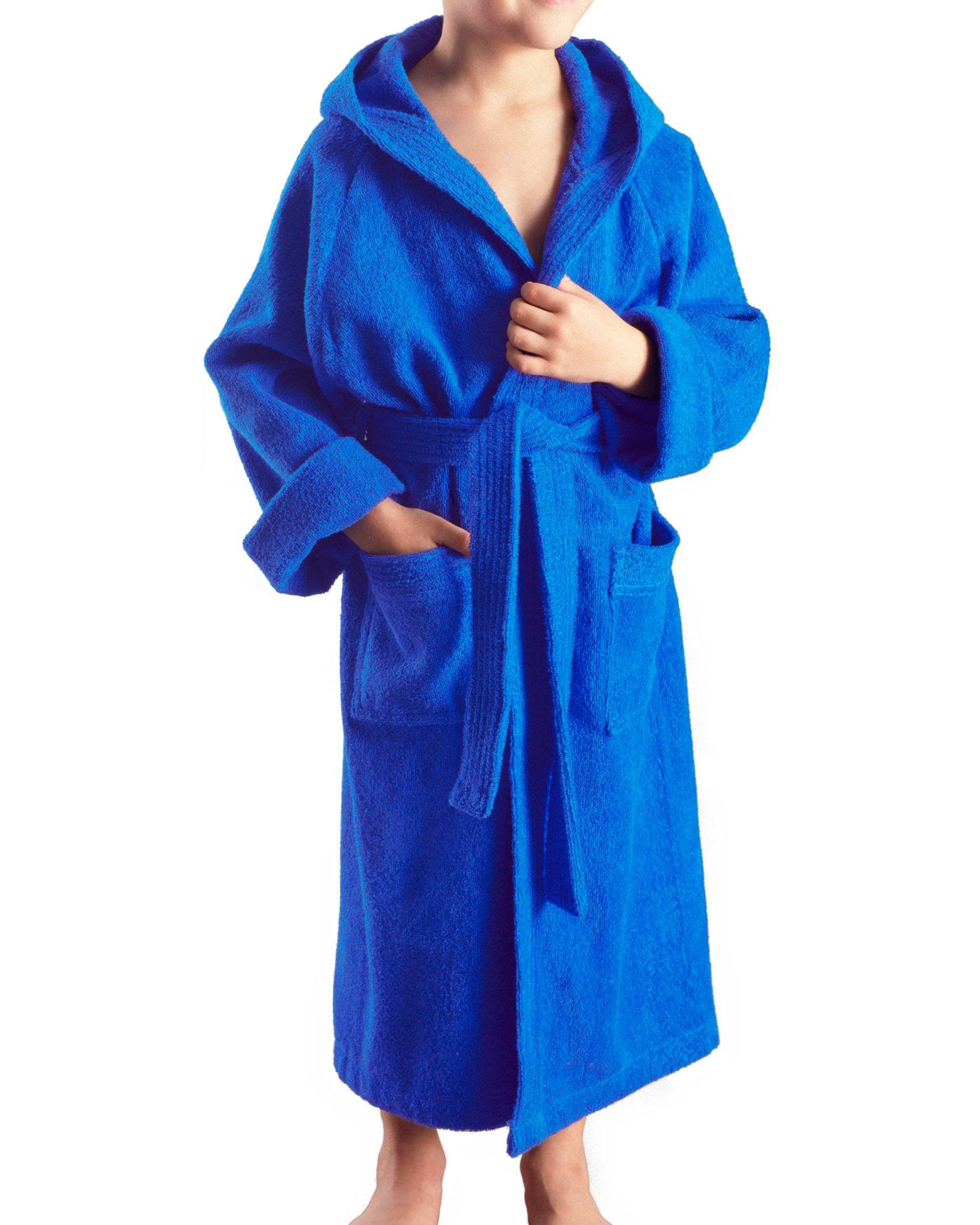 Arus - Albornoz niños con capucha para niñas y niños, 100% algodón tela de