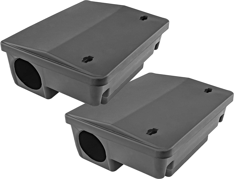 iTrap iTrap-005-S2 Rat & Mouse Bait Station Trap, Set of 2-Safe for Children & Pe, Black