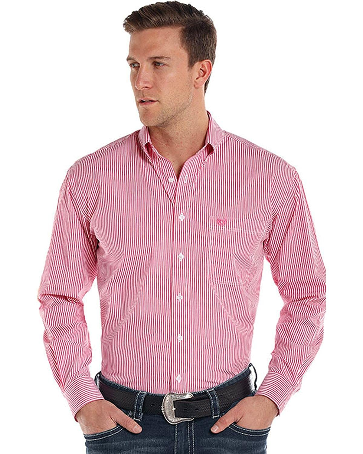 Panhandle Mens Rough Stock by Alford Classic Sport Stripe Shirt