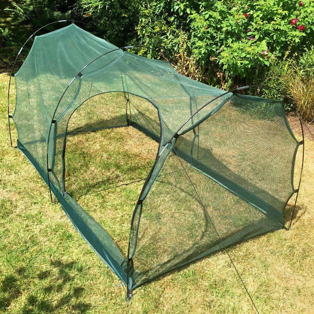 Garden Net Tunnel Cloche 2 x 1 x 1m with door GardenSkill