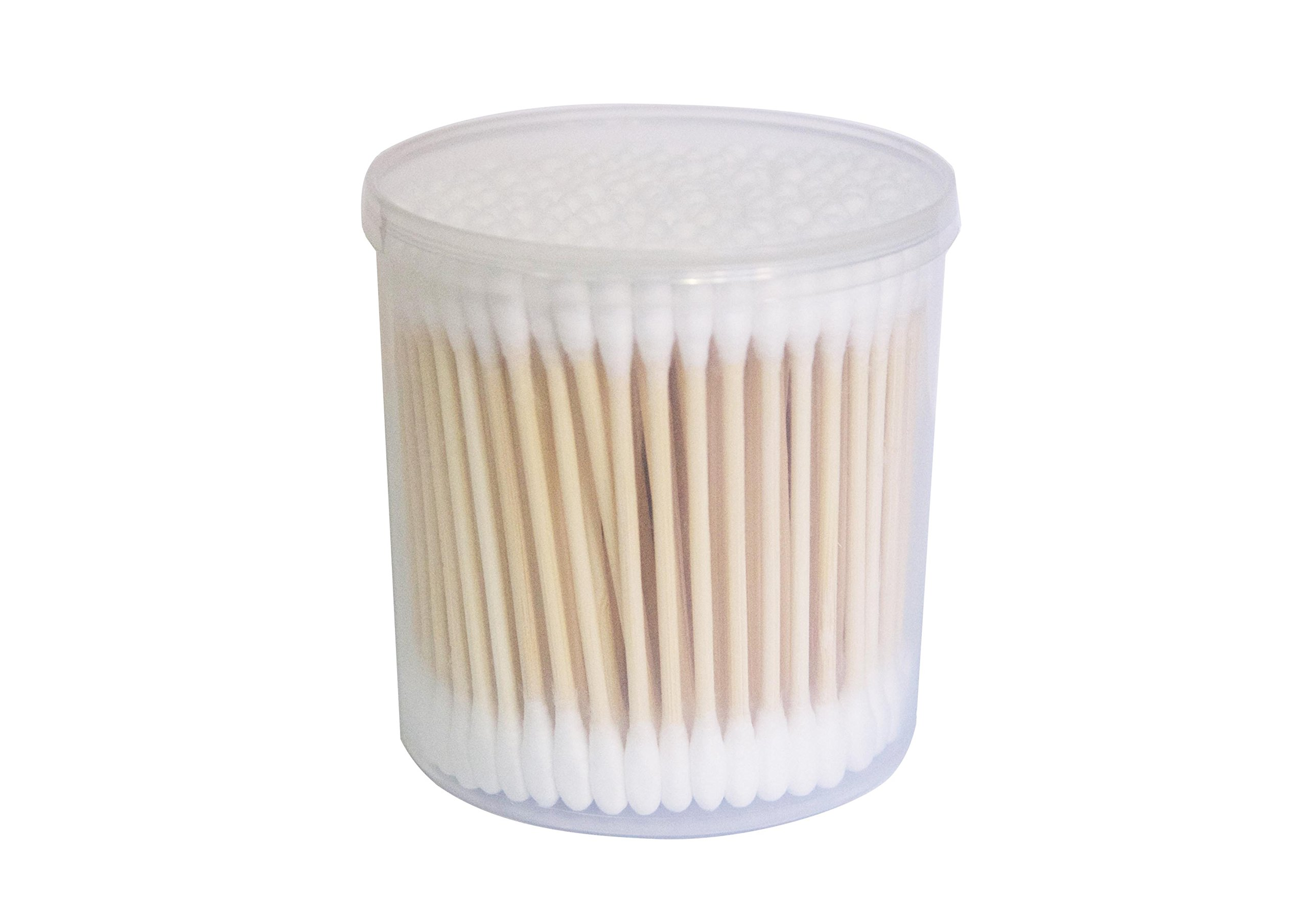 Bamboo Stick Cotton Swab 1200 PCS (6 Packs) - Long-Staple Cotton - Cotton Swabs Double Tipped Cleaning Swab, high Quality Absorbent Cotton - Multi-Functional, Safe, high Absorbency and Hygiene