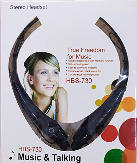GBN Standard HBS 730 Neckband Wireless Bluetooth Waterproof Headset  Black