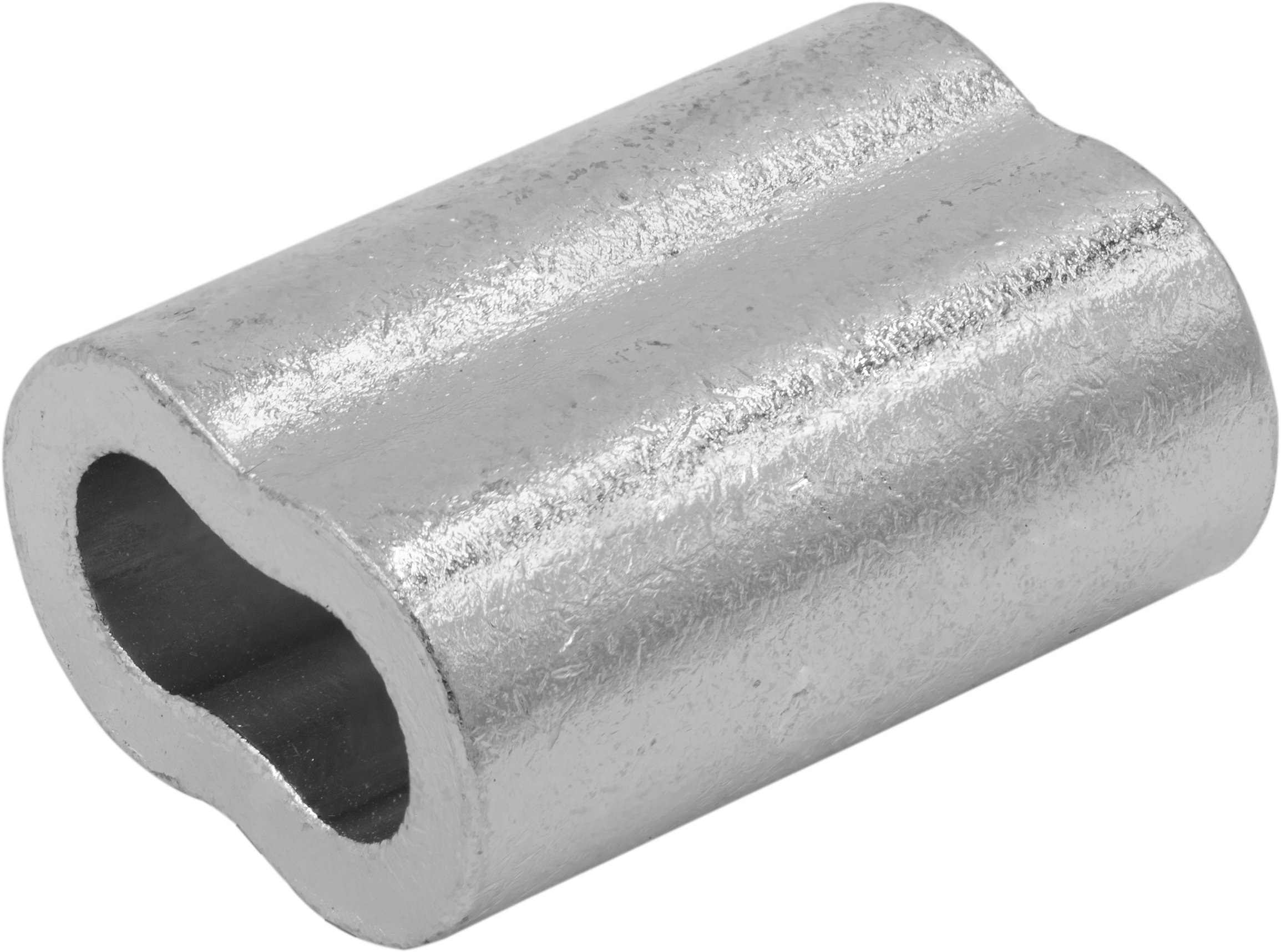 SwageRight MIL-SPEC Zinc Plated Copper Swage Sleeves Clip & Ferrules (3/16 inch) - Oval Duplex Wire Rope Cable Crimping Loop Fittings (Pack of 15)