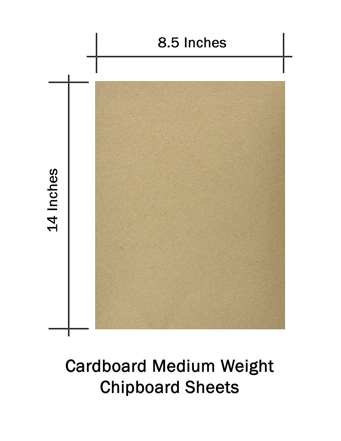 Cardboard Medium Weight Chipboard Sheets 8.5 x 11 25 Per Pack. by Superfine Printing Inc. Chipboard