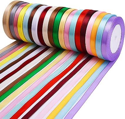DIY Ribbon 25 Yards Satin Wedding Party Decoration Craft Sewing Many 20 Colors