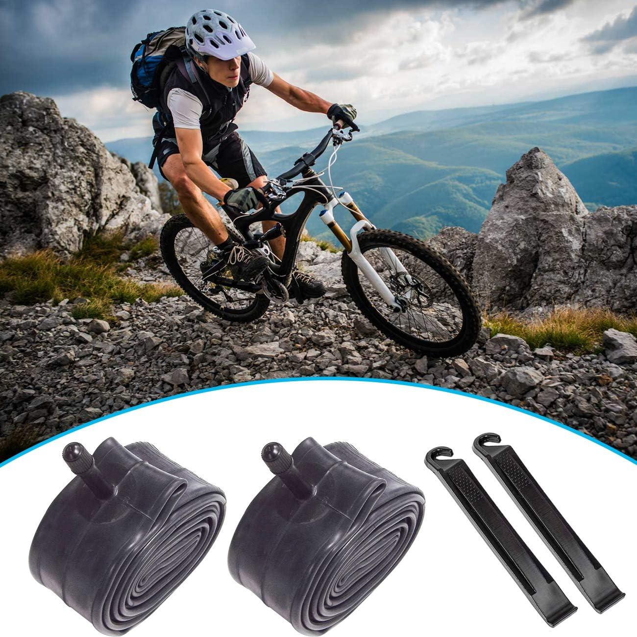 EddHomes 26 Inch Bike Tube 26x1.90//26x1.95//26x2.125 Inch Bike Inner Tube Bicycle Tube Replacement for Bike Inner Tubes Durable Butyl Rubber Bike Tires 2 Pack
