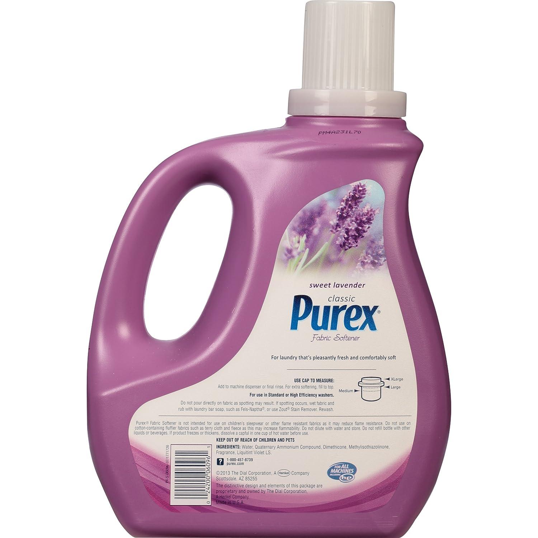 How Much Fabric Softener To Use Amazoncom Purex Liquid Fabric Softener Sweet Lavender 100