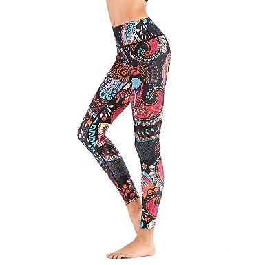 Amazon.com: Leggings de yoga para mujer con estampado Power ...