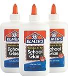 Elmer's Liquid School Glue, White, Washable, 7.625 Ounces, 3 Count Slime Kit