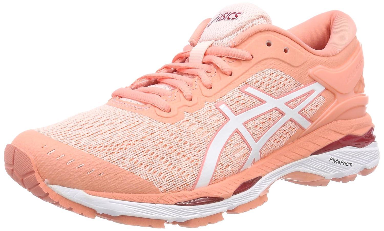 Asics Gel-Kayano 24, Zapatillas de Entrenamiento para Mujer 36 EU|Multicolor (Seashell Pink/White/Begonia Pink 1701)