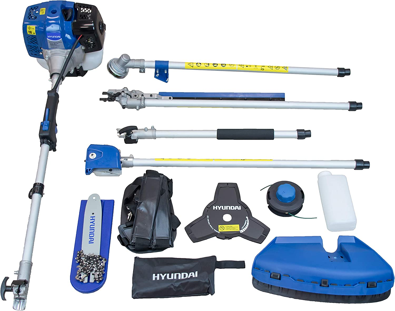 Hyundai HY-HYMT43 KIT Desbrozadora Multifunción 4 EN 1, Potencia Máxima 1.5 Kw, Cilindrada 42.7 cc, Azul