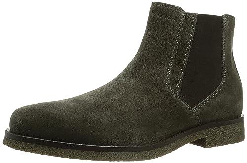 Geox UOMO Claudio - Botines Chelsea de Cuero Hombre: Amazon.es: Zapatos y complementos