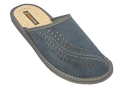 Neuankömmlinge gut aussehen Schuhe verkaufen sale Bawal Herren Hausschuhe Leder Pantoffeln Suede Leder Gift Box (Wahlweise)  Modell XC07