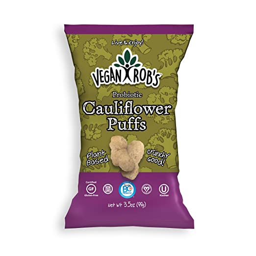 Gluten Free and Dairy Free Probiotic Puffs, Cauliflower