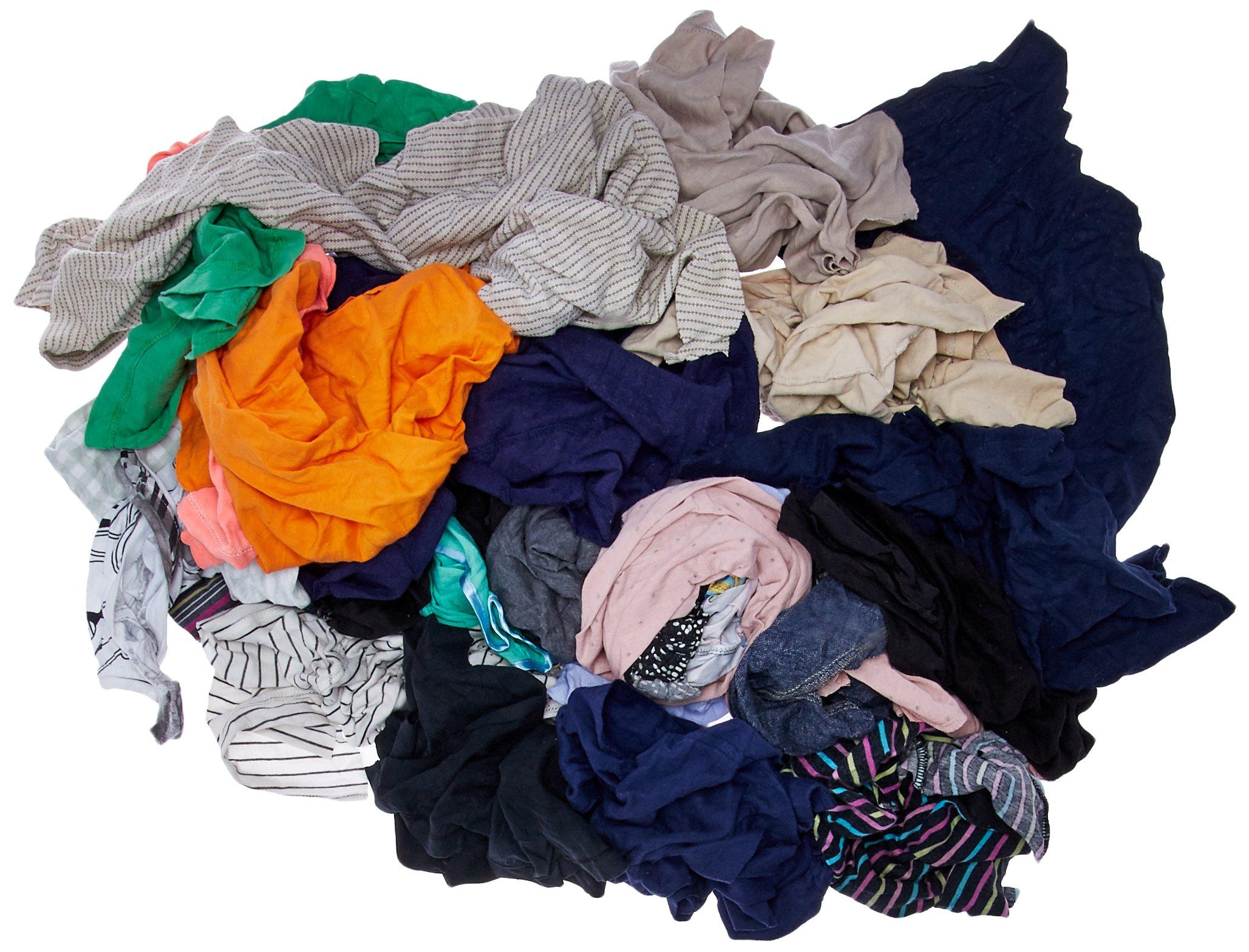 Buffalo Industries (10084PB) Recycled Multicolored T-Shirt Cloth Rags - 25 lb. bag