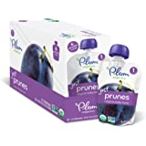 Plum Organics Stage 1, Organic Baby Food, Just Prunes, 3.5 ounce pouch (Pack of 12)